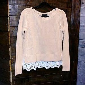 Ann Taylor Sweater Peach/Beige Medium